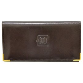 Céline-Céline Long Wallet-Brown