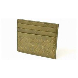 Bottega Veneta-Bottega Veneta Intrecciato Card Case-Khaki