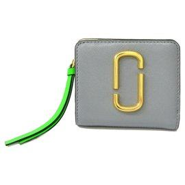 Marc Jacobs-Marc Jacobs Kompakte Geldbörse mit Reißverschluss-Grau