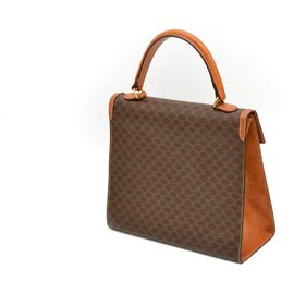 Céline-Céline Macadam Hand Bag-Brown