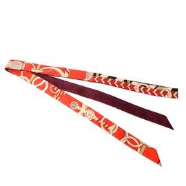 Hermès-Echarpe Hermès-Rouge