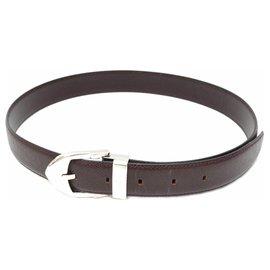 Louis Vuitton-Louis Vuitton Taiga Belt-Brown