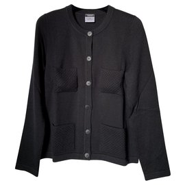 Chanel-Cardigan Chanel noir-Noir