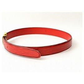 Louis Vuitton-Louis Vuitton Epi Belt-Vermelho