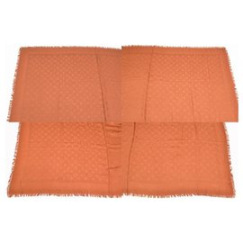 Louis Vuitton-Louis Vuitton Shine Scarf-Brown