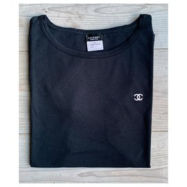 Chanel-Chanel black tshirt-Black