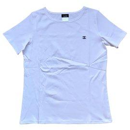 Chanel-Chanel weißes T-Shirt-Weiß