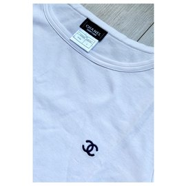 Chanel-Chanel white tshirt-White