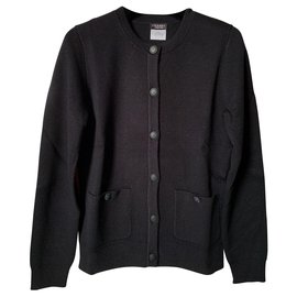 Chanel-Chanel black cardigans-Black
