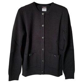 Chanel-Cardigans Chanel noir xs-Noir