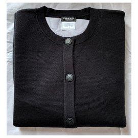 Chanel-Chanel schwarze Strickjacken-Schwarz