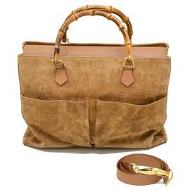 Gucci-Gucci Bambus-Einkaufstasche-Braun