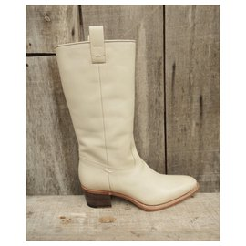 Gucci-Gucci western boots new condition-Eggshell