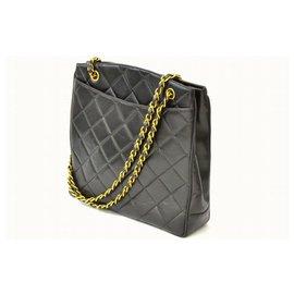 Chanel-Chanel Vintage Schultertasche-Schwarz