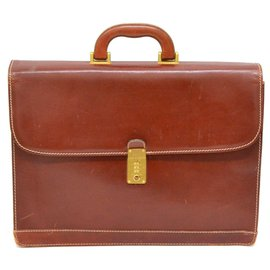 Bally-Bally Briefcase-Brown