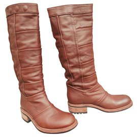 Free Lance-Free Lance Biker Model Boots 4 Piece Boot condition New-Brown