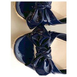 Prada-Mules compensées-Bleu