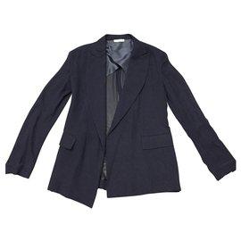 Céline-Blazer silk-Blue