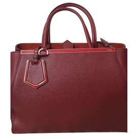 Fendi-Fendi 2Jours Red bag-Dark red