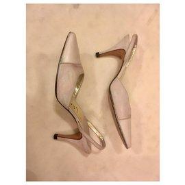 Chanel-Escarpins bride arrière-Blanc