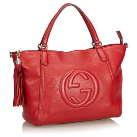 Gucci-Gucci Cartable de travail Soho rouge-Rouge