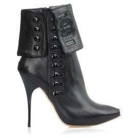 Alexander Mcqueen-Fold-over icon boots of Alexander McQueen-Black