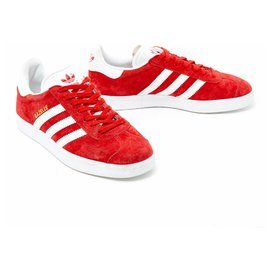 Adidas-GAZELLE FR38 SWEDEN RED NEW-Red