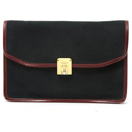 Céline-VINTAGE TRIUMPH-Black,Golden,Dark red
