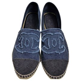 Chanel-Espadrilles-Dark blue