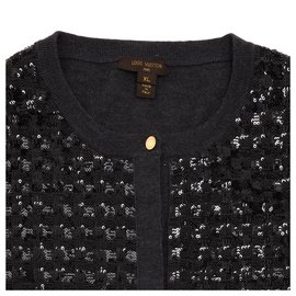 Louis Vuitton-DARK GREY BLACK SEQUINS FR38-Noir,Gris anthracite