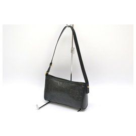 Céline-Céline Vintage Shoulder Bag-Black