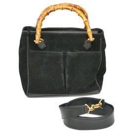 Gucci-Gucci Bamboo Sac à bandoulière-Noir