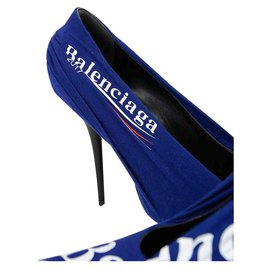 Balenciaga-BALENCIAGA DECOLLETE PRINTED 12 CM HEELS NEW-Blue