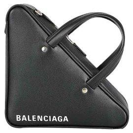 Balenciaga-SAC D'ÉPAULE TRIANGLE BALENCIAGA NOUVEAU-Noir