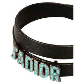 Dior-J'ORIOR BRACELET DIOR EN CUIR NOIR-Noir
