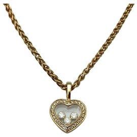"""Chopard-Collier Chopard """"Happy Diamonds"""" or jaune, diamants. Petit modèle.-Autre"""