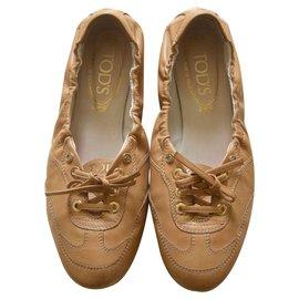 Tod's-Ballet flats-Caramel