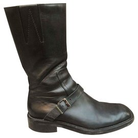 Gucci-Gucci motorcycle boots-Black