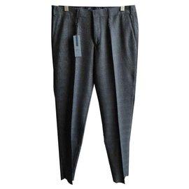 Autre Marque-IZAC BRAND NEW MEN'S PANTS-Dark grey
