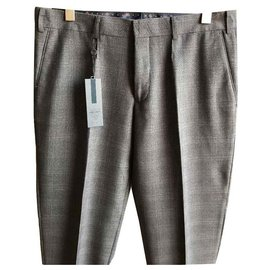 Autre Marque-IZAC BRAND NEW MEN'S'S PANTS-Gris anthracite