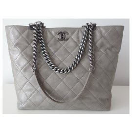 Chanel-BAG CHANEL SHOPPPING GRAY-Grey