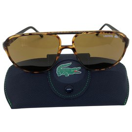 Lacoste-Sonnenbrille-Braun,Karamell