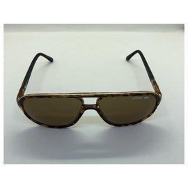Lacoste-Oculos escuros-Marrom,Caramelo