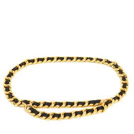Chanel-HIGH SEWING T80/85 BLACK GOLD-Black,Golden
