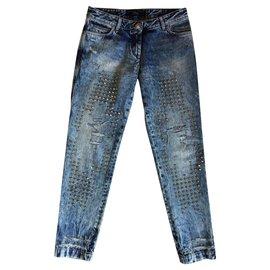 Philipp Plein-Boyfriend style jeans-Blue