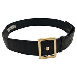 Karl Lagerfeld-Vintage Karl Lagerfeld Leather Belt-Black
