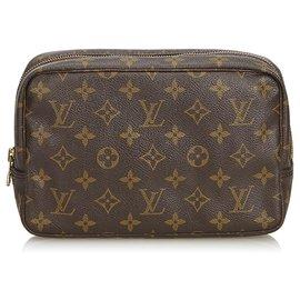 Louis Vuitton-Louis Vuitton Brown Monogram Trousse Toilette 23-Brown