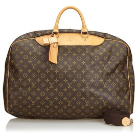Louis Vuitton-Louis Vuitton Brown Monogram Alize 24 HEURES-Brown