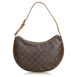 Louis Vuitton-Louis Vuitton Brown Monogram Croissant MM-Brown