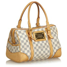 Louis Vuitton-Louis Vuitton White Damier Azur Berkeley-White,Blue